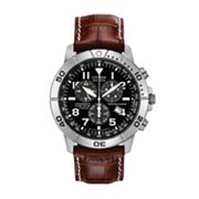 Drive from Citizen Eco-Drive Titanium Perpetual Calendar Leather Chronograph Watch - BL5250-02L - Men