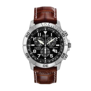Citizen Eco-Drive Men's Perpetual Calendar Leather Chronograph Watch - BL5250-02L