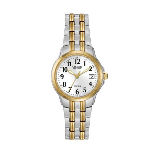 Citizen Eco-Drive Stainless Steel Two Tone Watch - EW1544-53A - Women