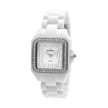 Peugeot Women's Ceramic Crystal Watch - PS4897WT