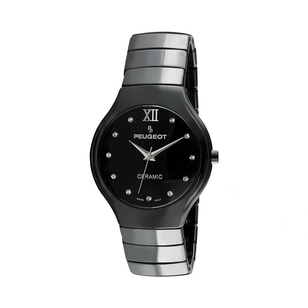 Peugeot Women's Ceramic Crystal Watch - PS4898BK