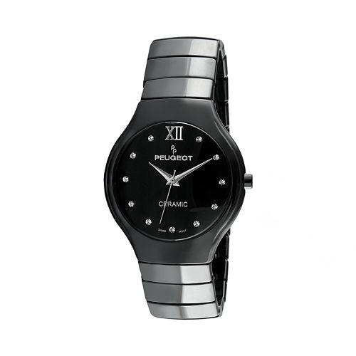 Peugeot Women's Ceramic Crystal Watch - PS4898BK