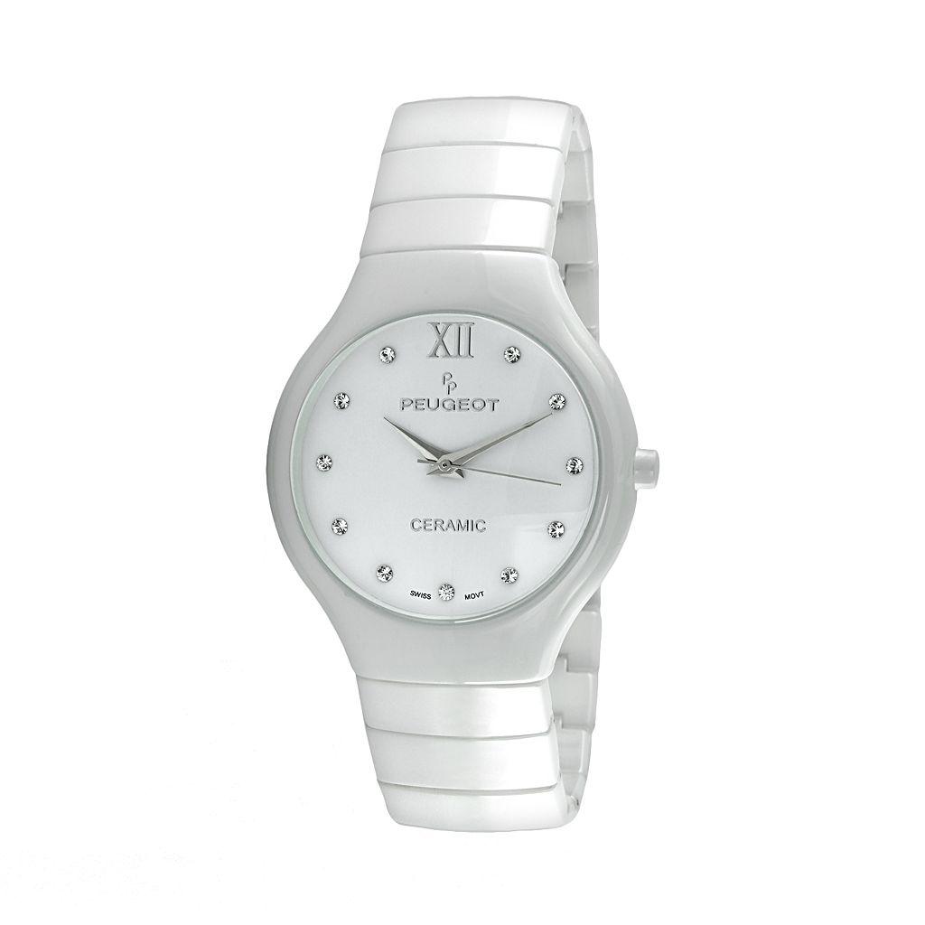 Peugeot Women's Ceramic Crystal Watch - PS4898WT