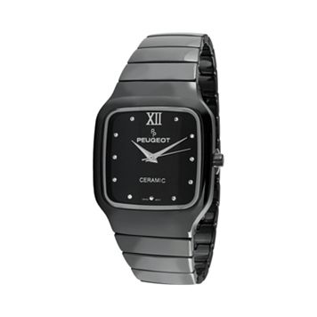 Peugeot Women's Ceramic Crystal Watch - PS4899BK
