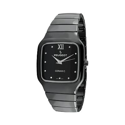 Peugeot Black Ceramic Crystal Watch - PS4899BK - Women