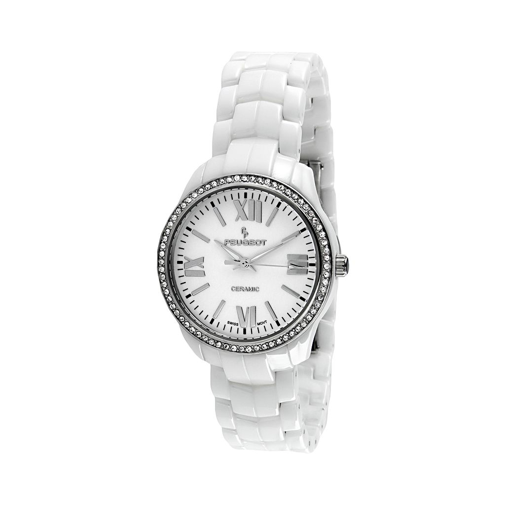 Peugeot Women's Ceramic Crystal Watch - PS4901WT
