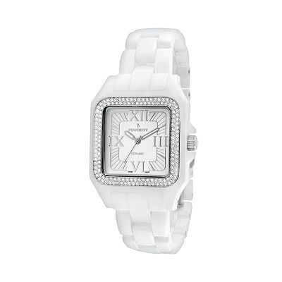 Peugeot White Acrylic Crystal Watch - 7062WT - Women
