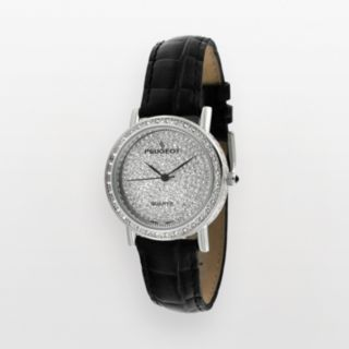 Peugeot Women's Crystal Leather Watch - J1287M