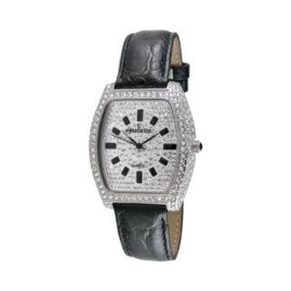 Peugeot Women's Crystal Leather Watch - J1246BK