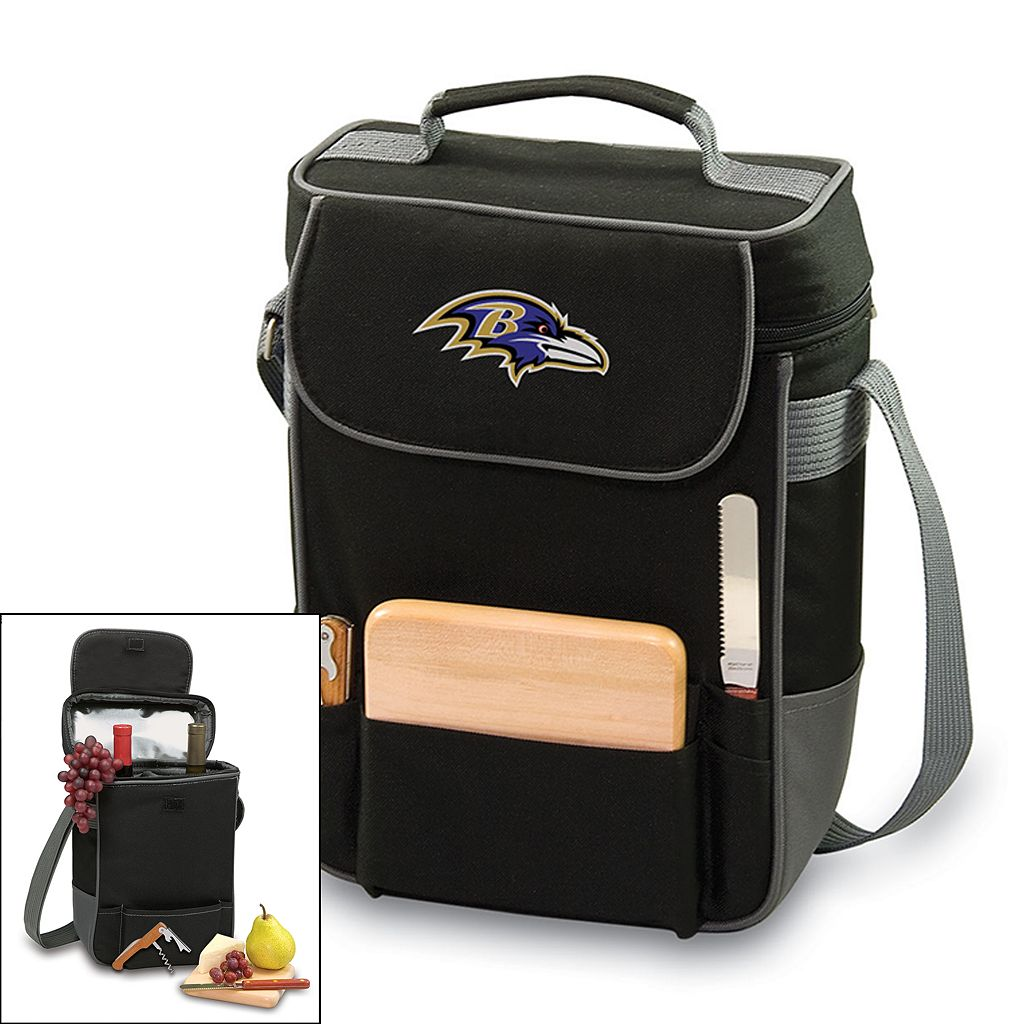 Picnic Time Baltimore Ravens Duet Insulated Wine Tote