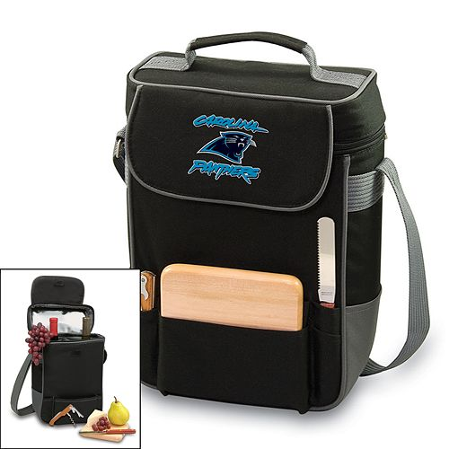 Picnic Time Carolina Panthers Duet Insulated Wine Tote
