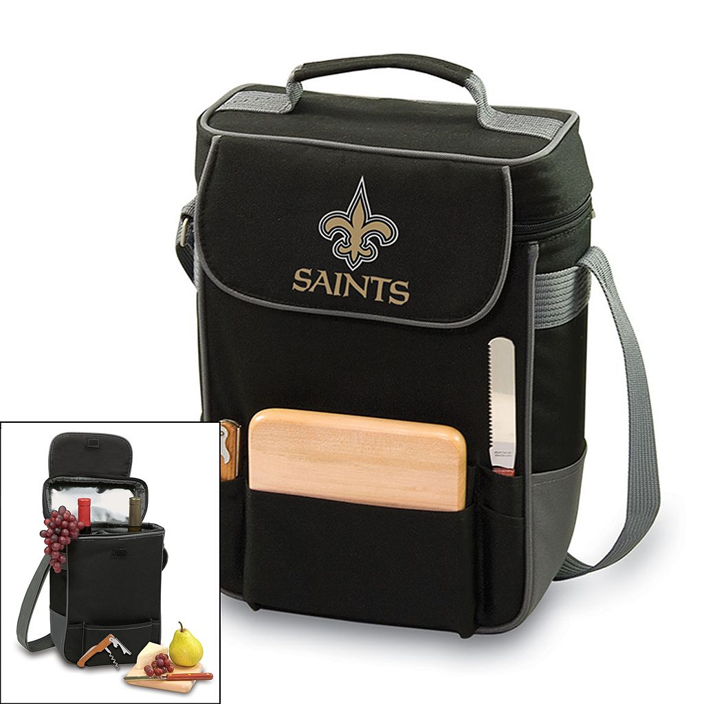 Picnic Time New Orleans Saints Duet Insulated Wine Tote