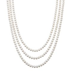 Freshwater Cultured Pearl Long Necklace