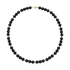 14k Gold Onyx Bead Necklace