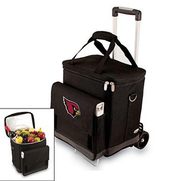 Picnic Time Arizona Cardinals Cellar Insulated Wine Cooler & Hand Cart