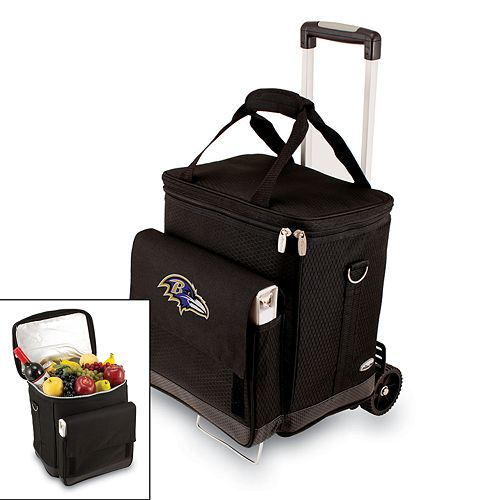 Picnic Time Baltimore Ravens Cellar Insulated Wine Cooler & Hand Cart