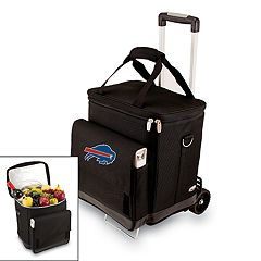 Picnic Time Buffalo Bills Cellar Insulated Wine Cooler & Hand Cart
