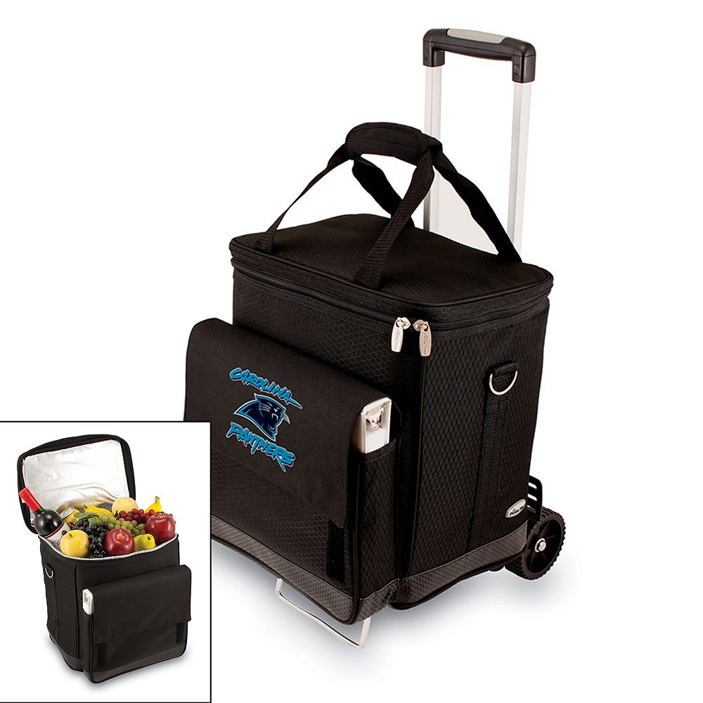 Picnic Time Carolina Panthers Cellar Insulated Wine Cooler & Hand Cart