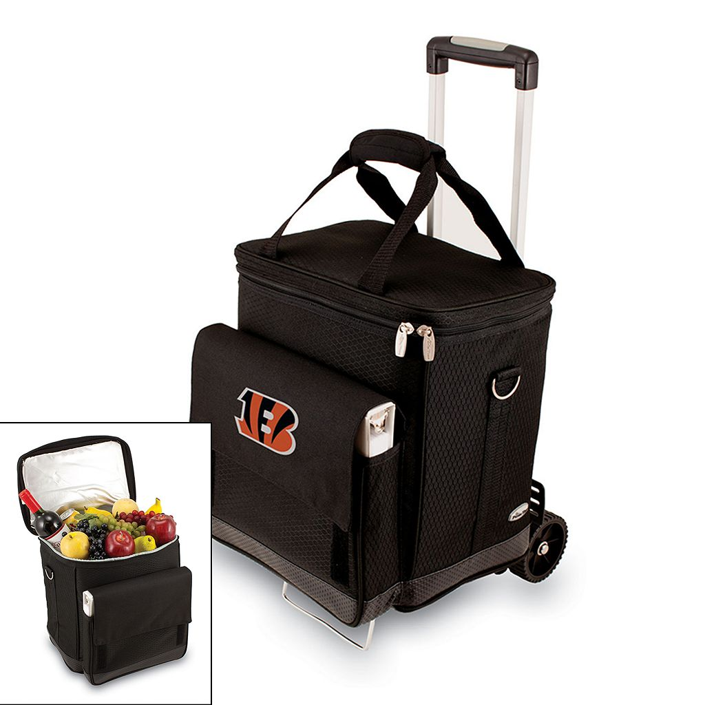 Picnic Time Cincinnati Bengals Cellar Insulated Wine Cooler & Hand Cart