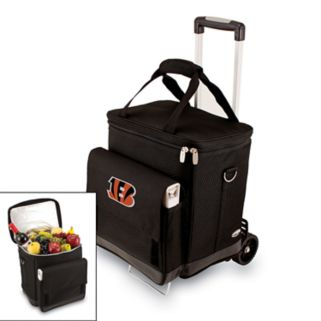 Picnic Time Cincinnati Bengals Cellar Insulated Wine Cooler and Hand Cart