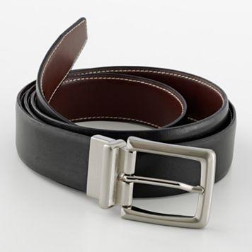 Croft & Barrow® Reversible Soft-Touch Leather Belt