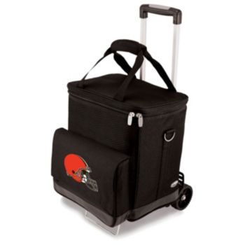 Picnic Time Cleveland Browns Cellar Insulated Wine Cooler and Hand Cart