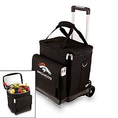 Picnic Time Denver Broncos Cellar Insulated Wine Cooler & Hand Cart