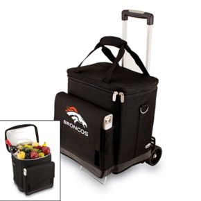 Picnic Time Denver Broncos Cellar Insulated Wine Cooler and Hand Cart