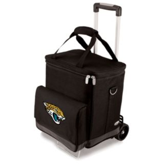Picnic Time Jacksonville Jaguars Cellar Insulated Wine Cooler and Hand Cart