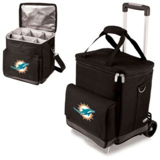 Picnic Time Miami Dolphins Cellar Insulated Wine Cooler and Hand Cart
