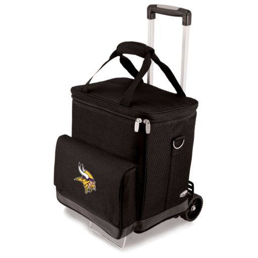Picnic Time Minnesota Vikings Cellar Insulated Wine Cooler and Hand Cart