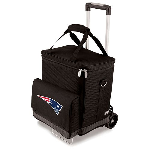 Picnic Time New England Patriots Cellar Insulated Wine Cooler & Hand Cart