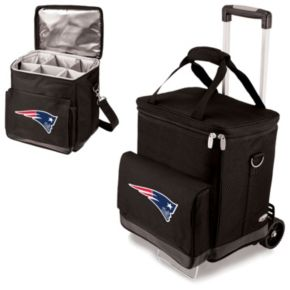 Picnic Time New England Patriots Cellar Insulated Wine Cooler and Hand Cart
