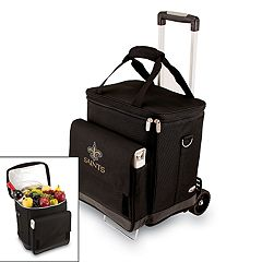 Picnic Time New Orleans Saints Cellar Insulated Wine Cooler & Hand Cart