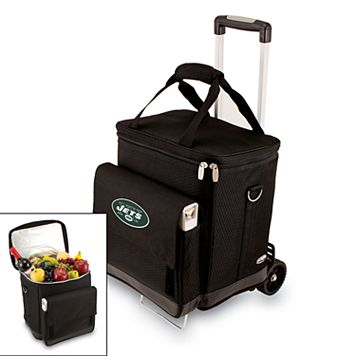 Picnic Time New York Jets Cellar Insulated Wine Cooler & Hand Cart