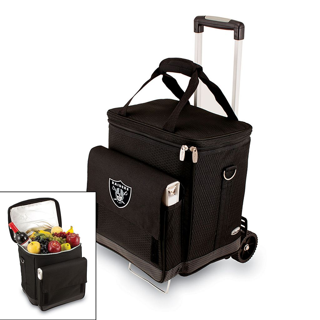 Picnic Time Oakland Raiders Cellar Insulated Wine Cooler & Hand Cart