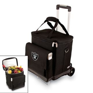 Picnic Time Oakland Raiders Cellar Insulated Wine Cooler and Hand Cart