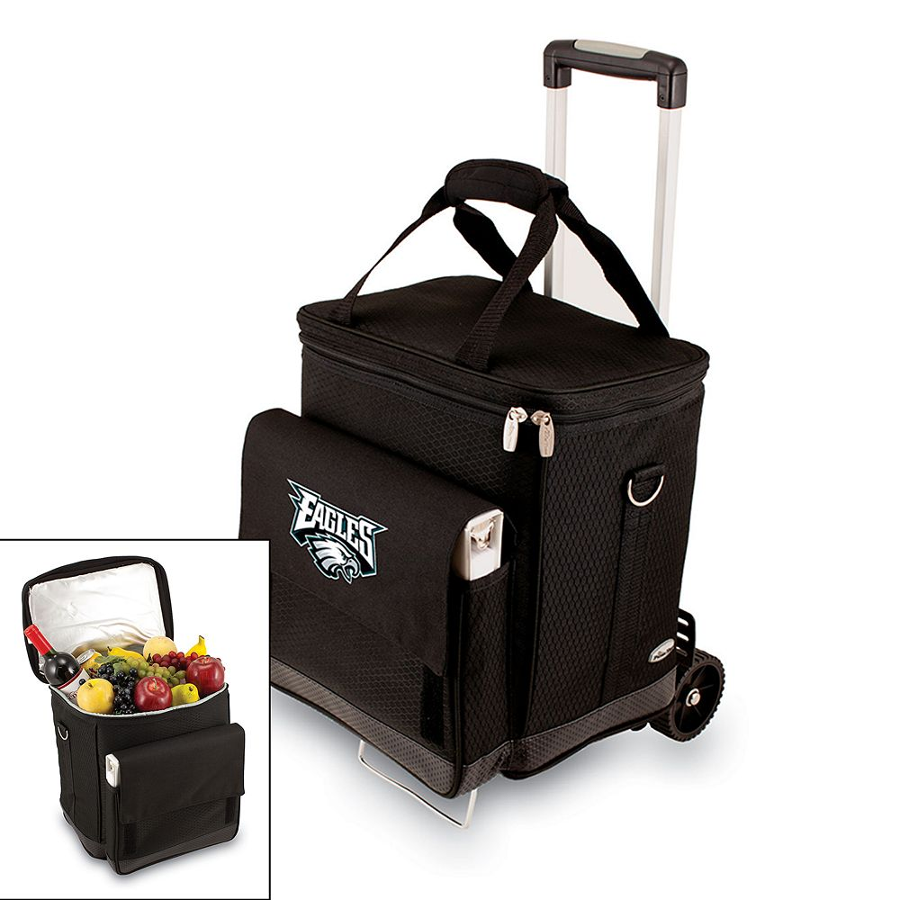 Picnic Time Philadelphia Eagles Cellar Insulated Wine Cooler & Hand Cart
