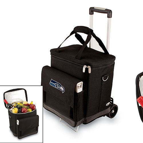 Picnic Time Seattle Seahawks Cellar Insulated Wine Cooler & Hand Cart