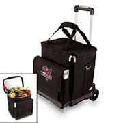 Picnic Time Tampa Bay Buccaneers Cellar Insulated Wine Cooler and Hand Cart
