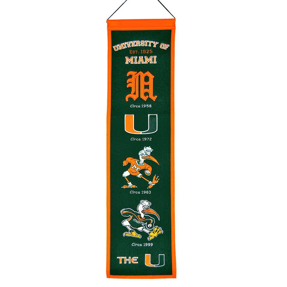 Miami Hurricanes Heritage Banner