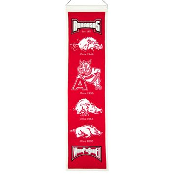 Arkansas Razorbacks Heritage Banner