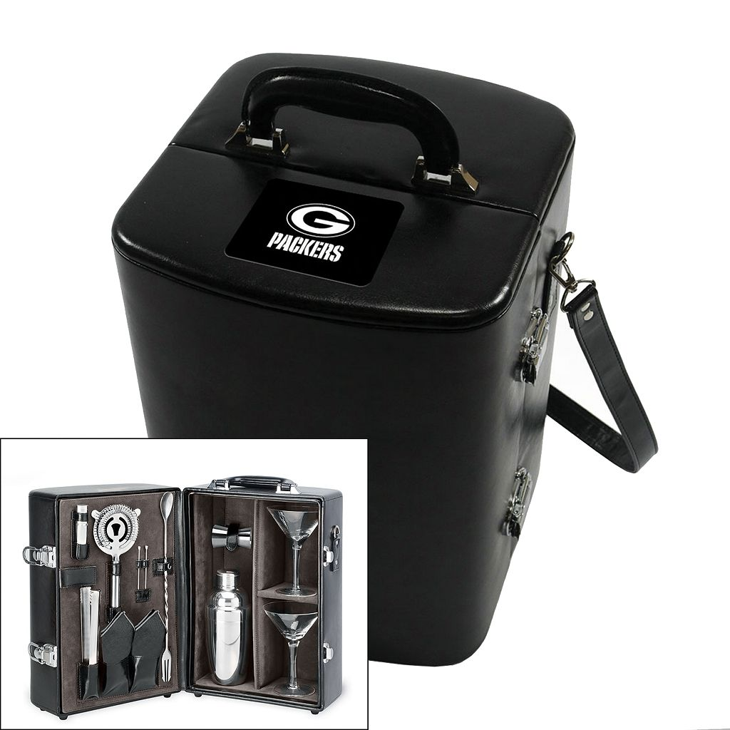 Picnic Time Green Bay Packers Manhattan Cocktail Case
