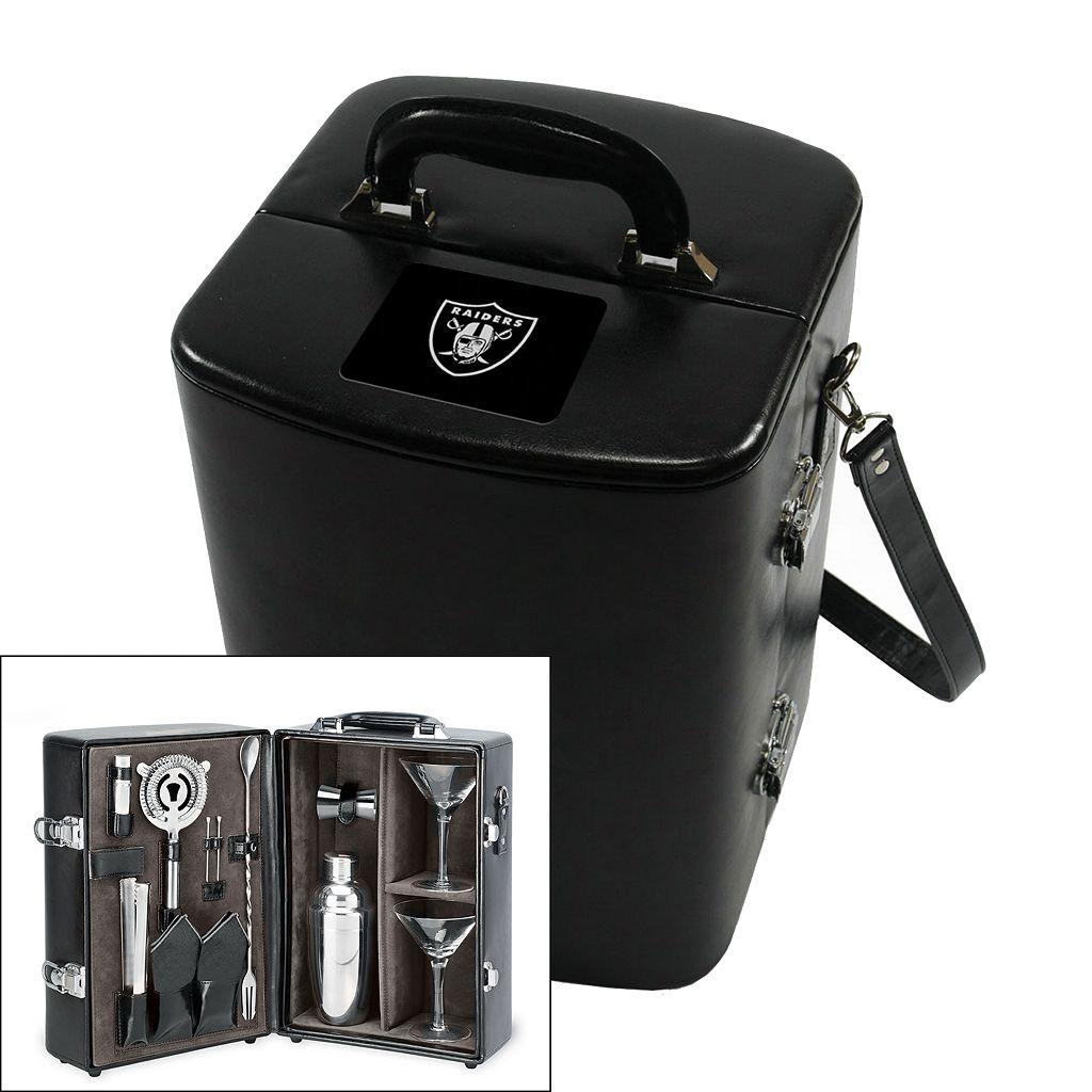 Picnic Time Oakland Raiders Manhattan Cocktail Case