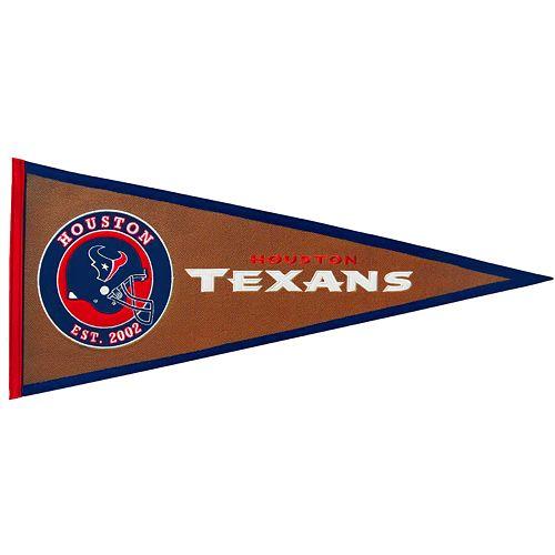 Houston Texans Pigskin Pennant