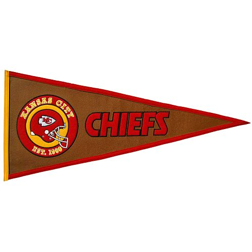 Kansas City Chiefs Pigskin Pennant