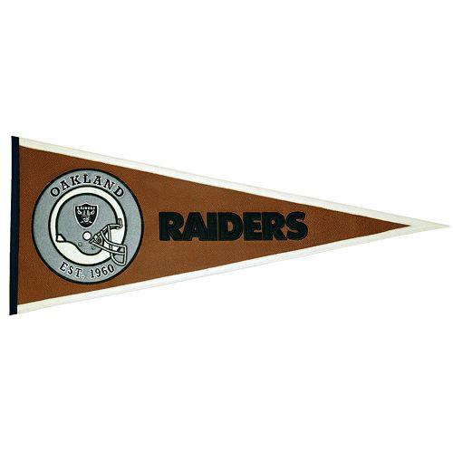 Oakland Raiders Pigskin Pennant