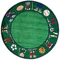 Momeni Lil Mo Whimsy Sports Rug - 5' Round