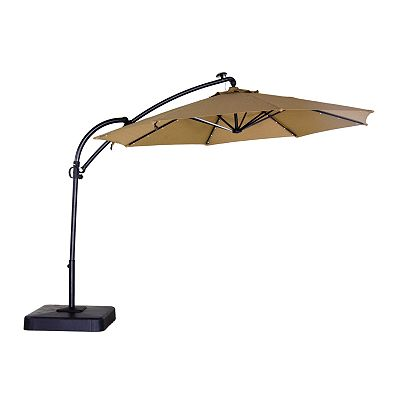 sonoma outdoors lighted cantilever patio umbrella. Black Bedroom Furniture Sets. Home Design Ideas