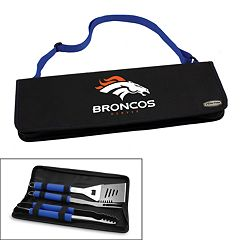Picnic Time Denver Broncos Metro 4 pc Barbecue Tote Set